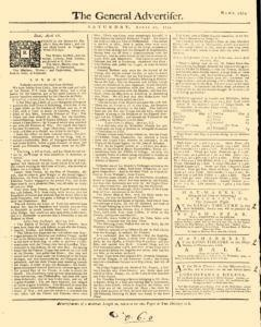 General Advertiser, April 20, 1745, Page 1