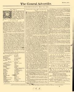 General Advertiser, May 15, 1745, Page 1