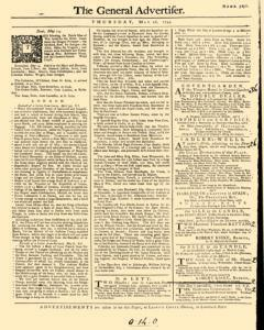 General Advertiser, May 16, 1745, Page 1