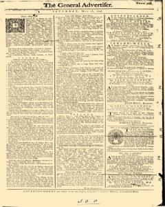 General Advertiser, May 18, 1745, Page 1