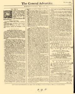 General Advertiser, May 22, 1745, Page 1