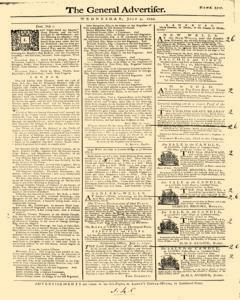 General Advertiser, July 03, 1745, Page 1