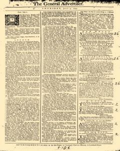 General Advertiser, July 04, 1745, Page 1