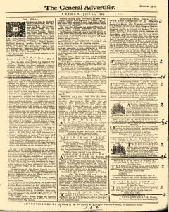 General Advertiser, July 12, 1745, Page 1
