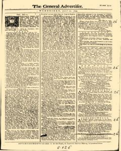 General Advertiser, July 17, 1745, Page 1
