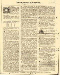 General Advertiser, July 27, 1745, Page 1