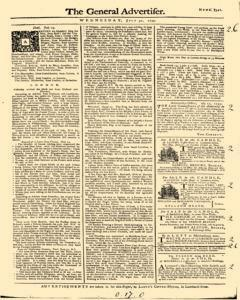 General Advertiser, July 31, 1745, Page 1