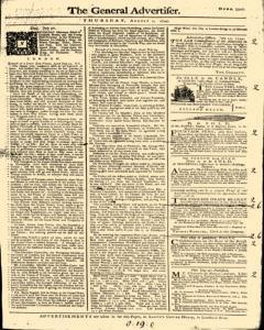General Advertiser, August 01, 1745, Page 1