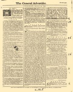 General Advertiser, August 13, 1745, Page 1