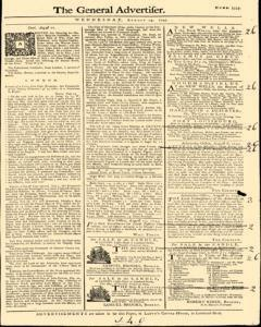 General Advertiser, August 14, 1745, Page 1