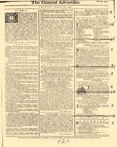 General Advertiser, August 16, 1745, Page 1