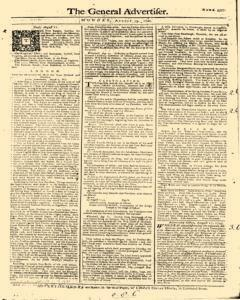 General Advertiser, August 19, 1745, Page 1