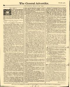 General Advertiser, August 23, 1745, Page 1