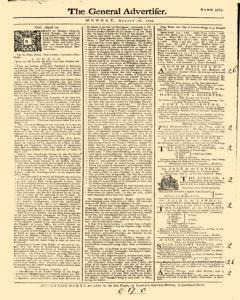 General Advertiser, August 26, 1745, Page 1