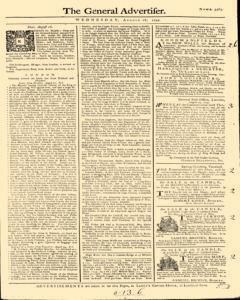 General Advertiser, August 28, 1745, Page 1