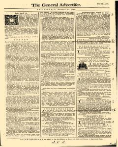General Advertiser, August 31, 1745, Page 1