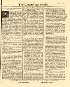 General Advertiser, November 26, 1745, Page 1