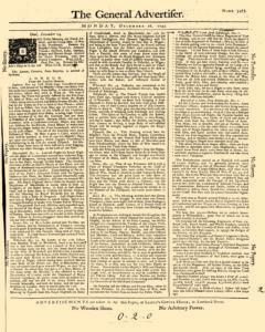 General Advertiser, December 16, 1745, Page 1