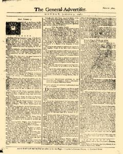 General Advertiser, January 05, 1746, Page 1