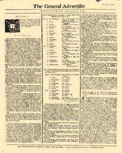 General Advertiser, January 07, 1746, Page 1