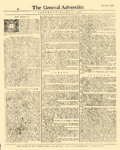 General Advertiser, January 17, 1746, Page 1