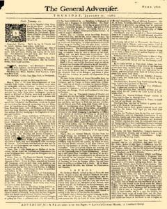 General Advertiser, January 22, 1746, Page 1