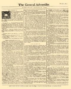 General Advertiser, January 27, 1746, Page 1