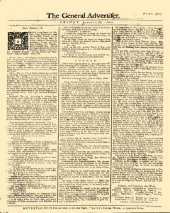 General Advertiser, January 30, 1746, Page 1