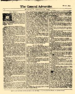 General Advertiser, February 09, 1746, Page 1