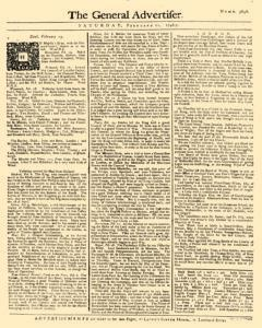 General Advertiser, February 21, 1746, Page 1