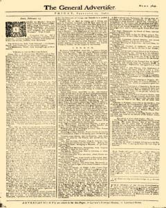 General Advertiser, February 27, 1746, Page 1