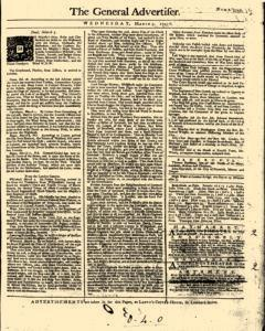 General Advertiser, March 05, 1746, Page 1