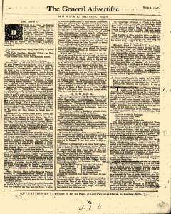 General Advertiser, March 10, 1746, Page 1