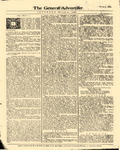 General Advertiser, March 14, 1746, p. 5