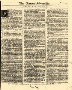 General Advertiser, March 25, 1746, Page 1