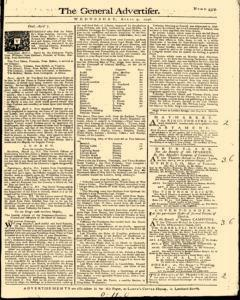 General Advertiser, April 09, 1746, Page 1