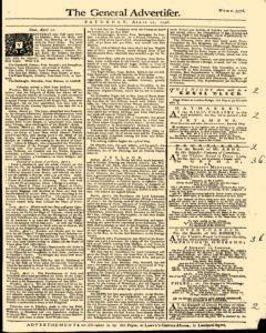 General Advertiser, April 12, 1746, Page 1