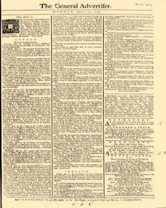 General Advertiser, April 21, 1746, Page 1