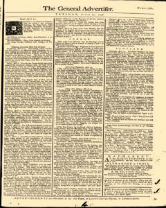 General Advertiser, April 22, 1746, Page 1