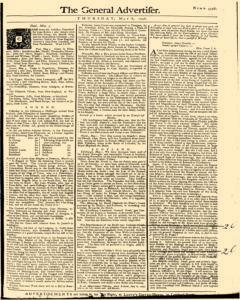 General Advertiser, May 08, 1746, Page 1