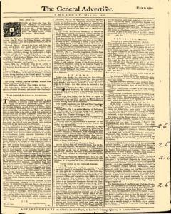 General Advertiser, May 15, 1746, Page 1