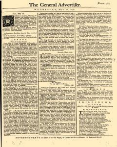 General Advertiser, May 28, 1746, Page 1