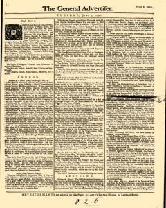 General Advertiser, June 03, 1746, Page 1
