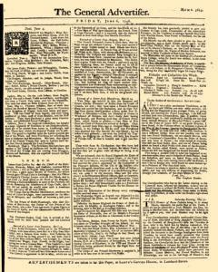 General Advertiser, June 06, 1746, Page 1