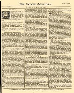 General Advertiser, June 13, 1746, Page 1
