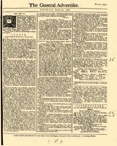 General Advertiser, June 27, 1746, Page 1