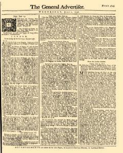 General Advertiser, July 02, 1746, Page 1