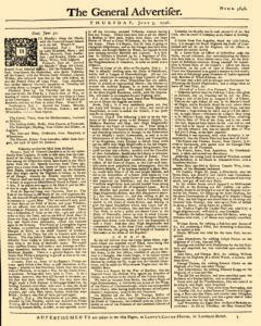 General Advertiser, July 03, 1746, Page 1