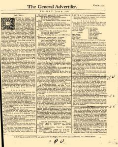 General Advertiser, July 04, 1746, Page 1