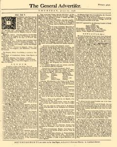 General Advertiser, July 10, 1746, Page 1